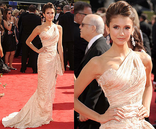 Vampire Diaries star Nina Dobrev at The 2010 Primetime Emmy Awards