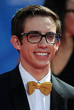 How cute are Glee actor Kevin McHale's glasses and bow tie? Definitely set him apart from all the other men.