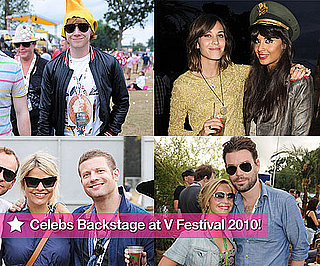 Slideshow of Pictures of Celebrities Backstage at V Festival 2010 Including Rupert Grint