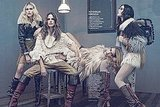 Dree Hemingway, Alessandra Ambrosio, Ana Beatriz Barros, and Coco Rocha in New Life, Photographer: Sharif Hamza, Stylist: Simon Robins