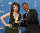30 Rock costars Tina Fey and Tracy Morgan joked around in 2006.