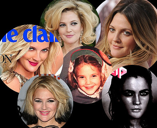 Photos of Drew Barrymore's Hair and Makeup Through the Ages