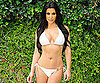 Slide Picture of Kim Kardashian in White Bikini