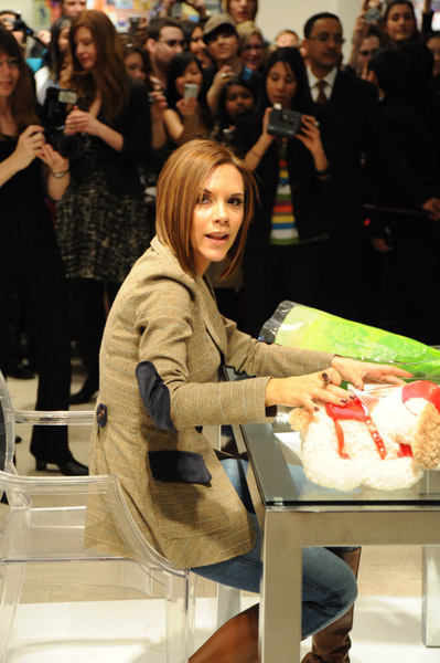 Victoria Beckham promoted her denim line dVb there in 2008.