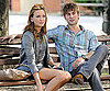 Chace Crawford and Katie Cassidy on Gossip Girl Set