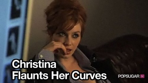 Video of Christina Hendricks Modeling For London Fog