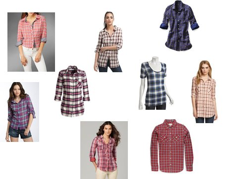 Plaid shirts in a variety of prints