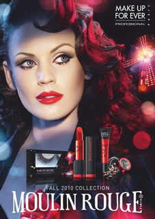Make Up For Ever Launches New Line With the Moulin Rouge
