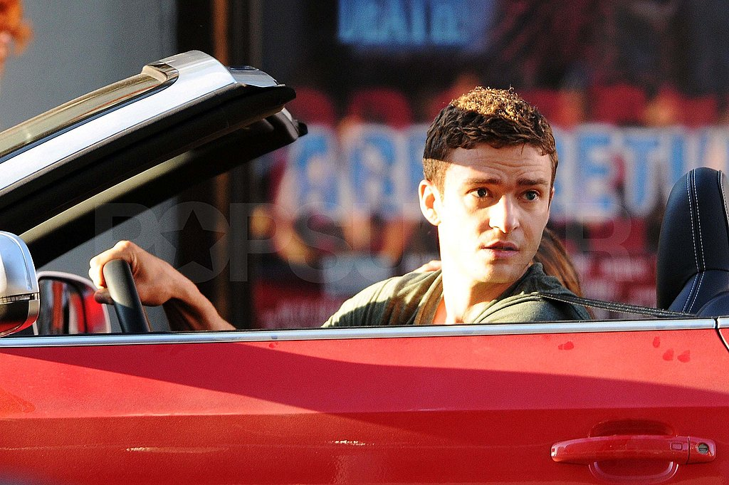 Pictures of Justin Timberlake Filming