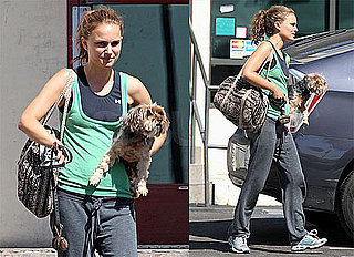 Pictures of Natalie Portman Picking Her Dog Up From the Vet in LA