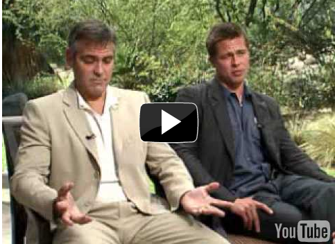 Video of George Clooney and Brad Pitt's Witty Banter Promoting Oceans 12