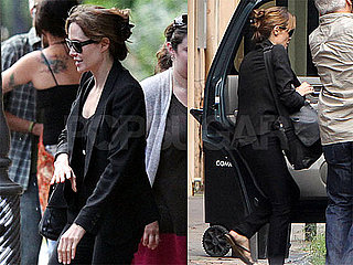Pictures of Angelina Jolie Leaving New Orleans on a Private Jet