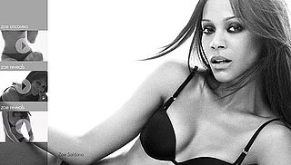 Zoe Saldana in New Calvin Klein Underwear Videos