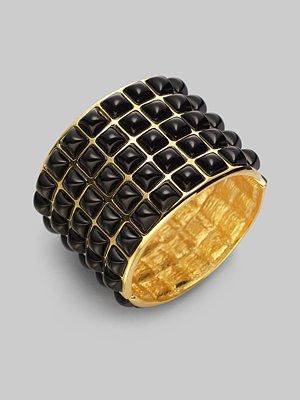 Kenneth Jay Lane - Resin Cabochon Wide Bracelet - Saks.com