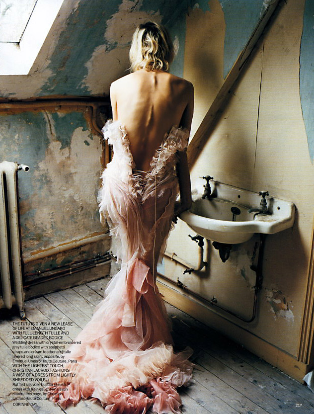 "Delfine Bafort in ""Hidden Treasures,"" Vogue UK April 2002"