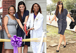 Pictures of Sandra Bullock at a Ribbon Cutting Ceremony in New Orleans