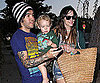 Slide Picture of Ashlee Simpson and Pete Wentz With Bronx in LA