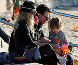 Sand Man Russell Crowe Played With His Kiddos