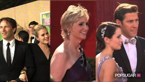 Video of True Blood Stars at the Emmys, Video of Glee Stars Talking About the Britney Spears Episode, and Video of Robert Pattin