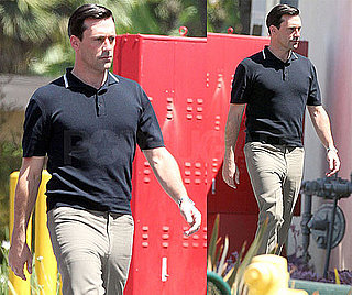 Pictures of Jon Hamm on the Set of Mad Men in LA