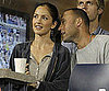 Slide Picture of Minka Kelly and Derek Jetter watching the US Open in NYC
