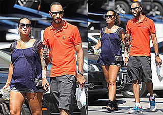 Pictures of Pregnant Alicia Keys and Swizz Beatz Walking in NYC