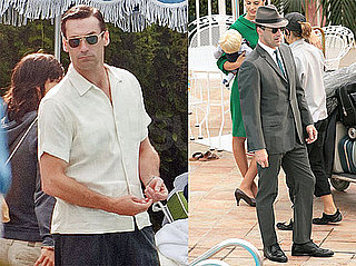 Pictures of Jon Hamm Dressed as Don Draper on the Set of Mad Men in LA