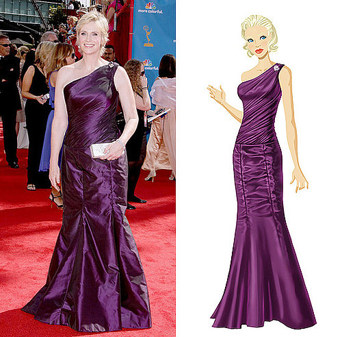 Get Jane Lynch's Purple Emmy Gown on PopSugar's Retail Therapy Game!