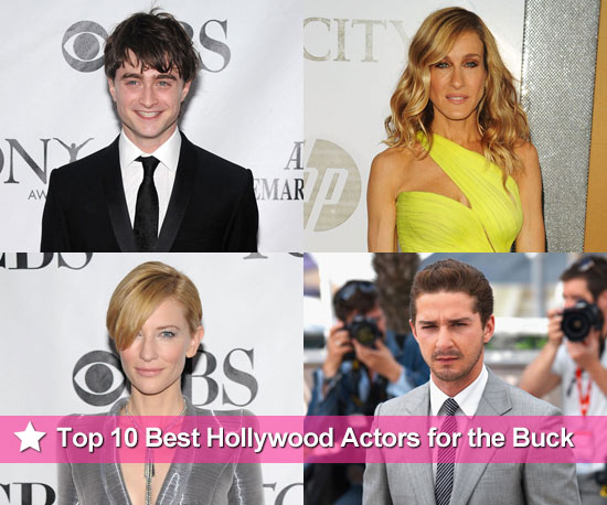 Top 10 Best Hollywood Actors for the Buck