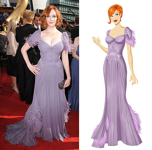 Get Christina Hendricks's Zac Posen Emmy Gown on PopSugar's Retail Therapy Game!