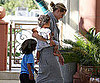 Slide Picture of Heidi Klum and Kids in LA