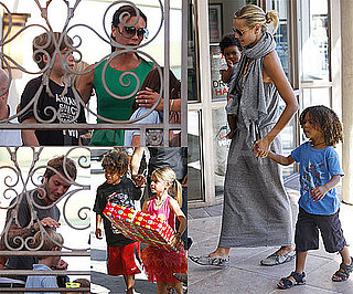 Pictures of Victoria Beckham, Heidi Klum and Their Kids at Romeo Beckham's Birthday Party