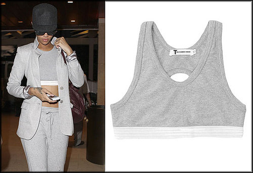Rihanna Wearing Alexander Wang Sports Bra