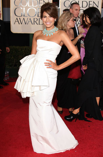 January 2009: Eva Mendes at the 66th Annual Golden Globe Awards