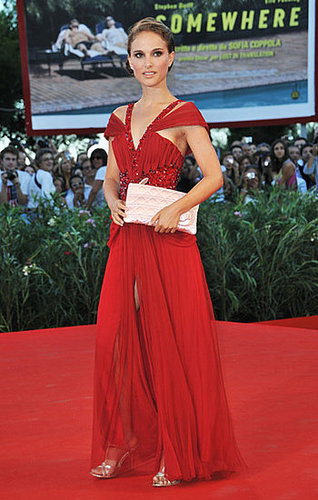 Natalie Portman in Red Rodarte Dress