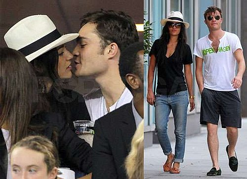 Pictures of Ed Westwick Kissing Jessica Szohr at US Open