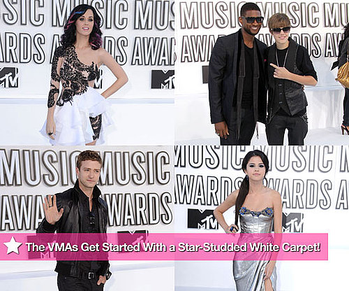 Pictures of Katy Perry, Selena Gomez, Justin Timberlake, Usher, and Justin Bieber at the MTV VMAs