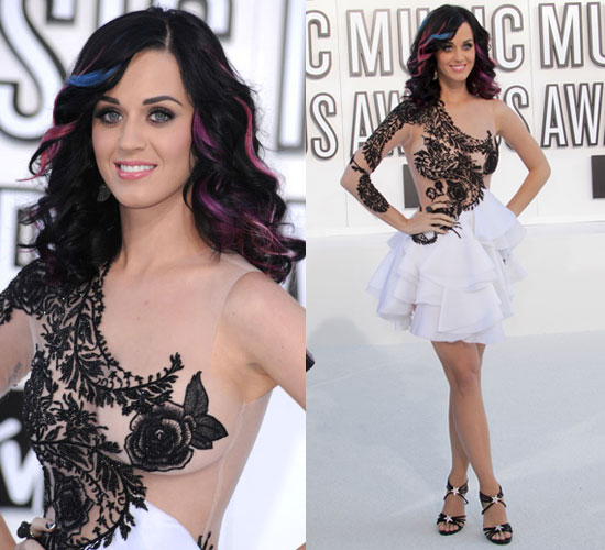 Katy Perry Wears Marchesa at 2010 MTV VMAs