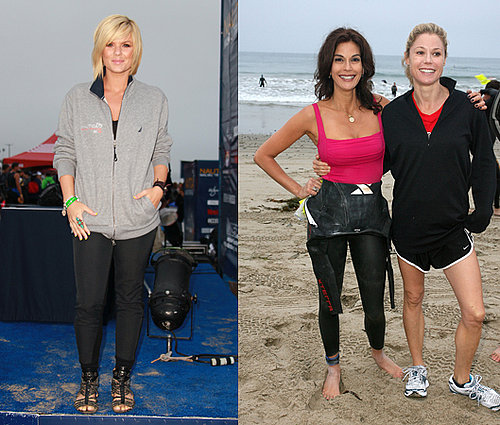 Celebrities in the Nautica Malibu Triathlon: Teri Hatcher, James Marsden, Kimberly Caldwell, Mark Feuerstein