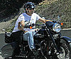 Slide Picture of George Clooney Riding Motorcycle