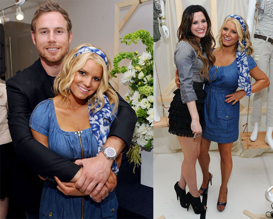 Pictures of Jessica Simpson, Eric Johnson at Denim Preview