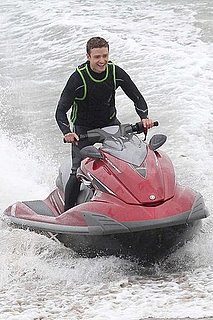 Pictures of Justin Timberlake Jet Skiing on the Set of Friends With Benefits in Malibu