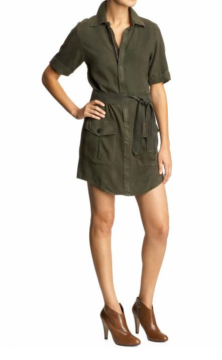 Monrow Military Shirt Dress ($248)