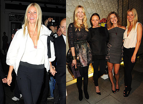Gwyneth Paltrow, Stella McCartney, Claudia Schiffer at London's Fashion's Night Out