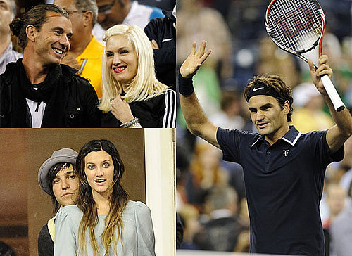 Gwen Stefani, Gavin Rossdale, Ashlee Simpson and Cameron Diaz at the US Open Finals in NYC