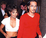 Janet Jackson stayed close to her then husband René Elizondo, Jr. in 1995.