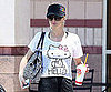 Slide Picture of Paris Hilton Wearing a Hello Kitty Shirt and Sipping on Jamba Juice