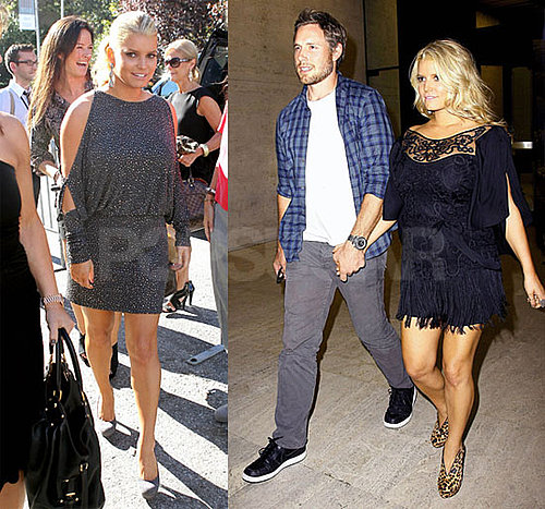 Pictures of Jessica Simpson and Eric Johnson in NYC, Jessica Simpson at NYFW