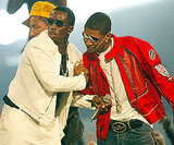 Diddy and Usher shared a moment on stage in 2002.