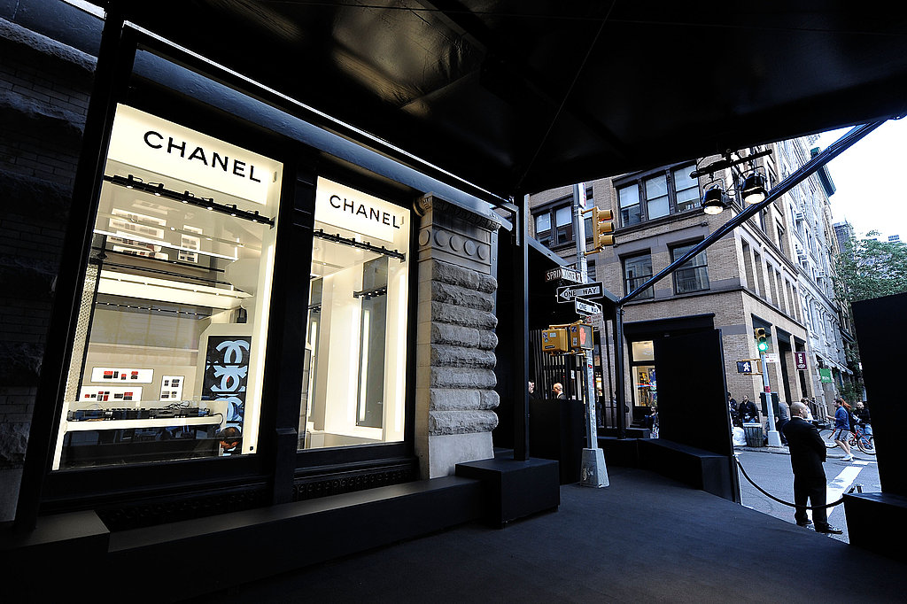 Outside, just the glow of the lights and Chanel logos beckoning you in.